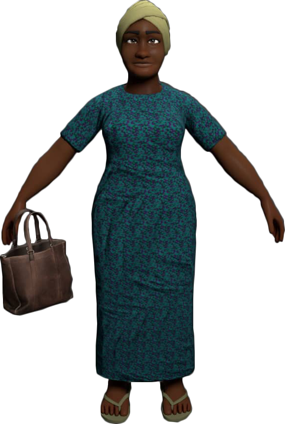 Madam Glo 3D Animation Character