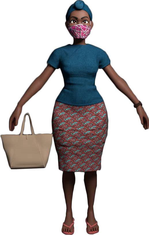 Madam Rose 3D Animation Character